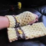 Crochet gloves mittens wris..