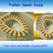 Crochet Pattern - Toilet Seat Cozy (34VC2012)
