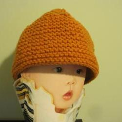 Knit Leaf Baby Hat - Bronze (H19)